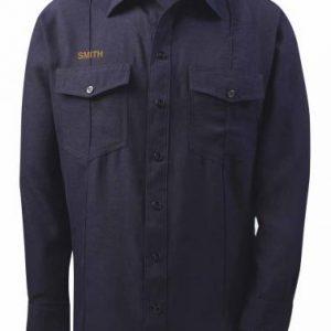 1457LS-10 Lion Nomex IIIA Battalion Firefighter Long Sleeve Shirt – Dark Navy