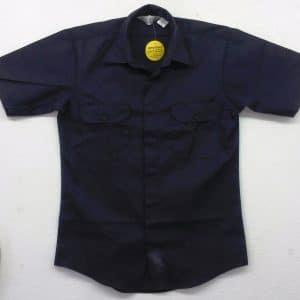1532-30 Lion Brigade Poly/Cotton Short Sleeve Shirt – Navy Blue