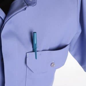 1540-00 Lion Brigade Poly/Cotton Short Sleeve Shirt – Medium Blue