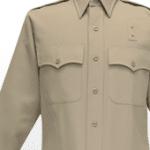40W6504 Flying Cross Silvertan Long Sleeve Dry-Clean Only