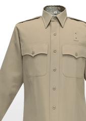 40W6504 Flying Cross Silvertan Long Sleeve Shirt Poly/Rayon
