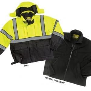 575MFL 3 in 1 Hi-Viz Waterproof Duty Jacket w/ Liner