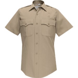 69R6604 Flying Cross Silvertan Short Sleeve Deluxe Tropical Poly/Rayon