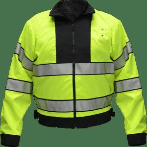 73160A Flying Cross Black & Hi-Viz Reversible Duty Jacket