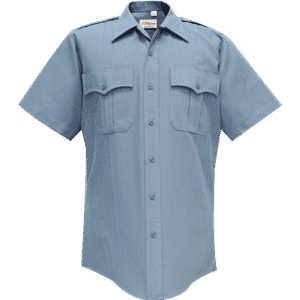 95R6625 Flying Cross Medium Blue Short Sleeve Deluxe Tropical Poly/Rayon
