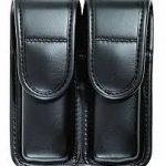 22078 Bianchi Plain Black Double Magazine Pouch