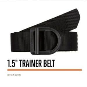 59409 5.11 Tactical 1.5″ Trainer Belt – Black
