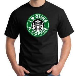 8000 Men's Guns & Coffee T-shirt