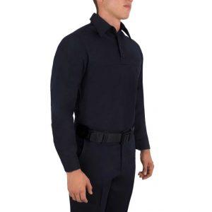 8471 Blauer Dark Navy AmorSkin Base Polo – Long Sleeve