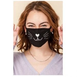 Kids Washable 2-Layer Kitty Cat Face Mask