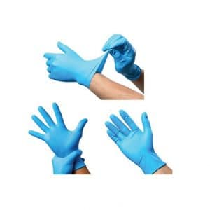9A Blue Nitrile Gloves – Powder Free