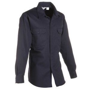 1232-30 Lion Brigade Poly/Cotton Long Sleeve Shirt – Navy Blue