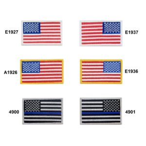 American Flag Rectangle Patch